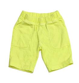 Joah Love Neon Yellow Pocket Shorts