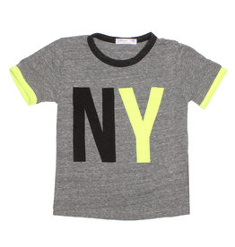 Joah Love Infant Grey Tee with Neon NY