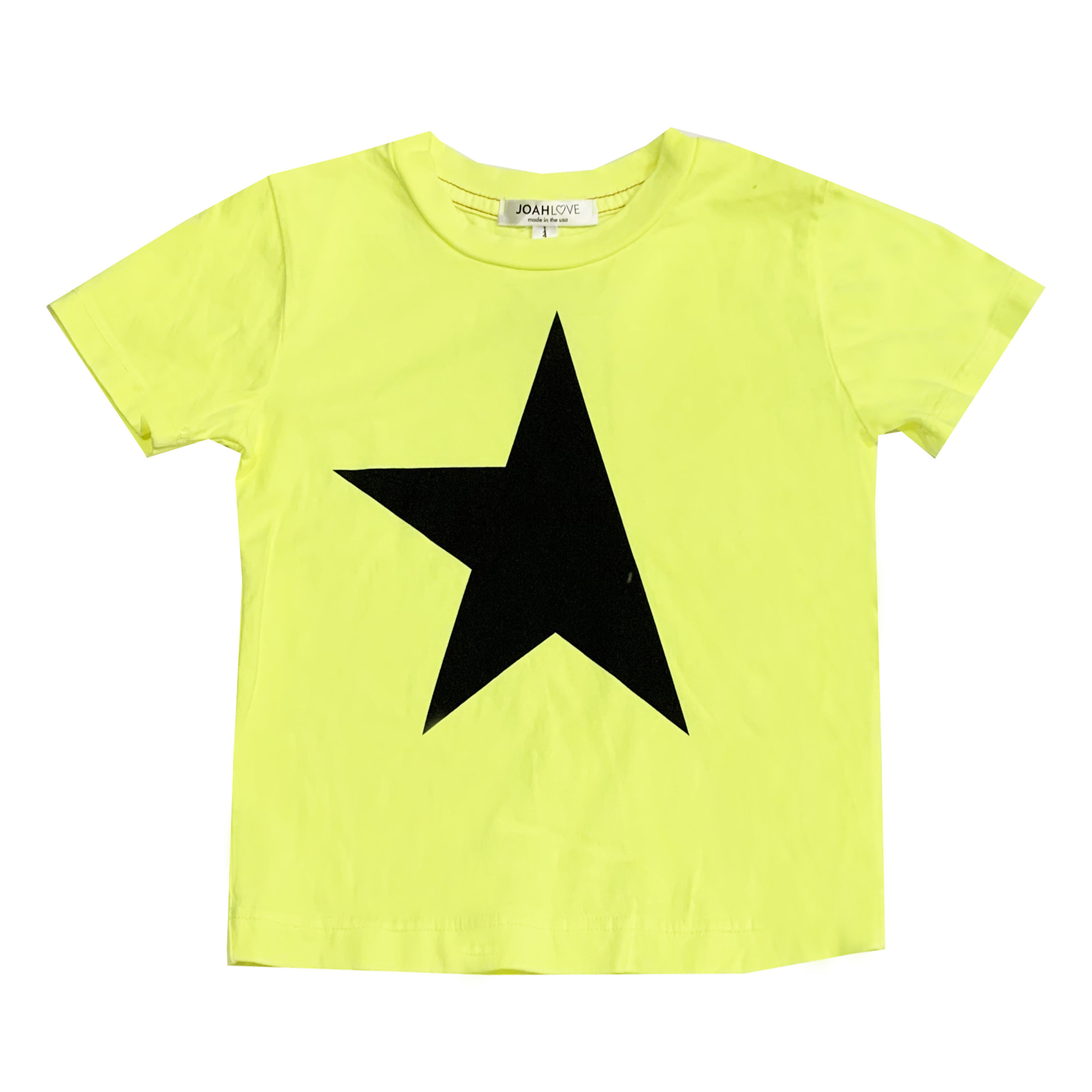 Joah Love Infant Neon Yellow Star Tee