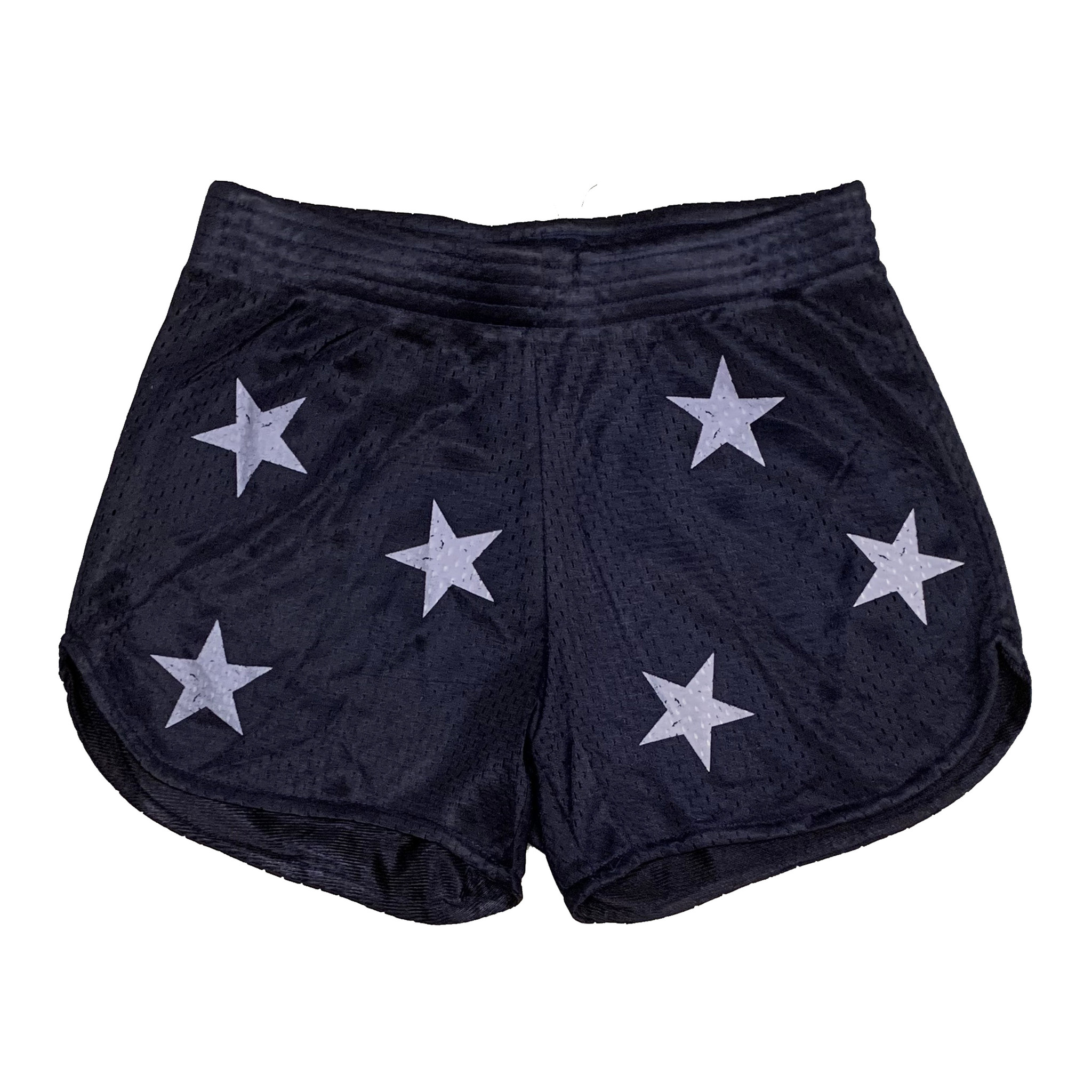 Firehouse Navy Mesh Star Shorts