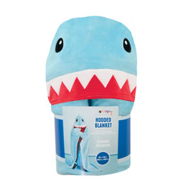 Shark Hooded Plush Blanket