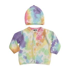 Fingerprints Pastel Tie Dye Knitted Sweater & Hat Set