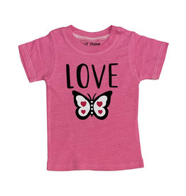 Small Change Hot Pink Butterfly Tee