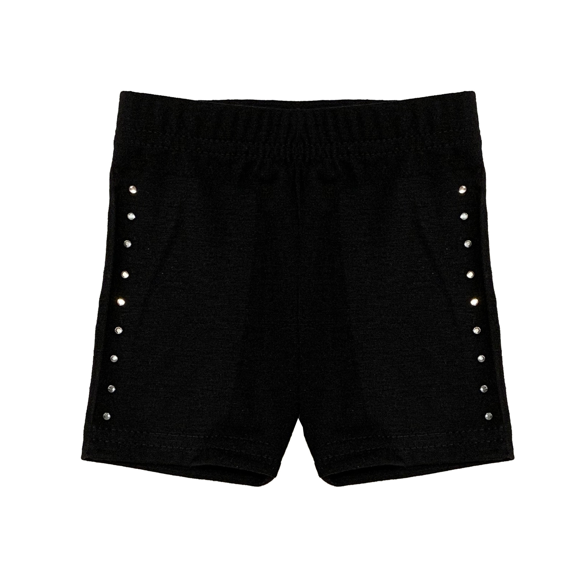 Small Change Black Rhinestone Bike Short