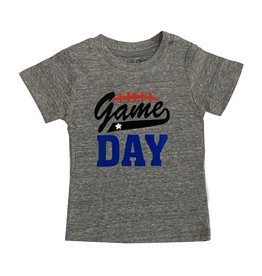 Small Change Grey Football Game Day Tee