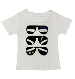 Small Change Boys White Sunglasses Tee