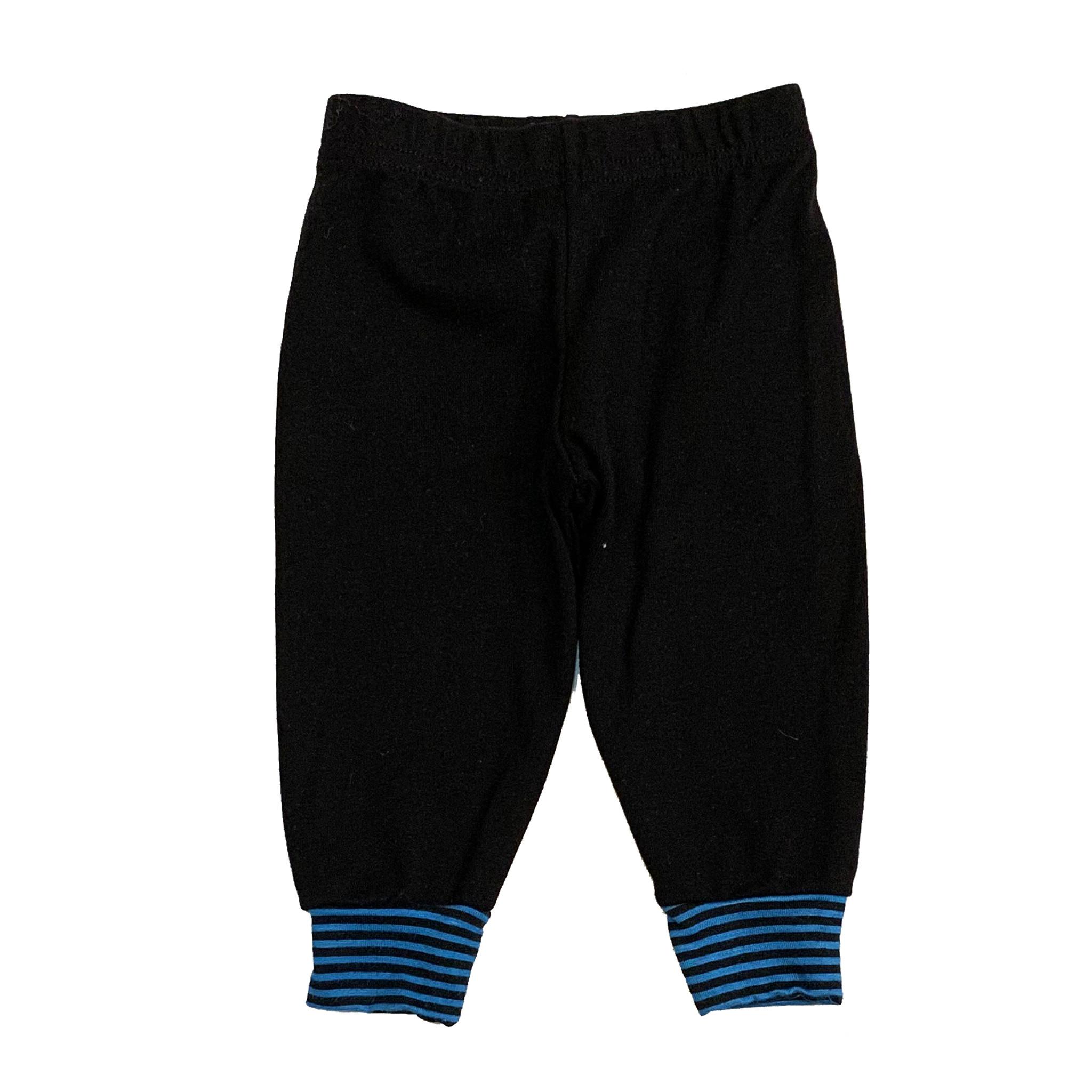 Small Change Turquoise Stripe Cuff Pant