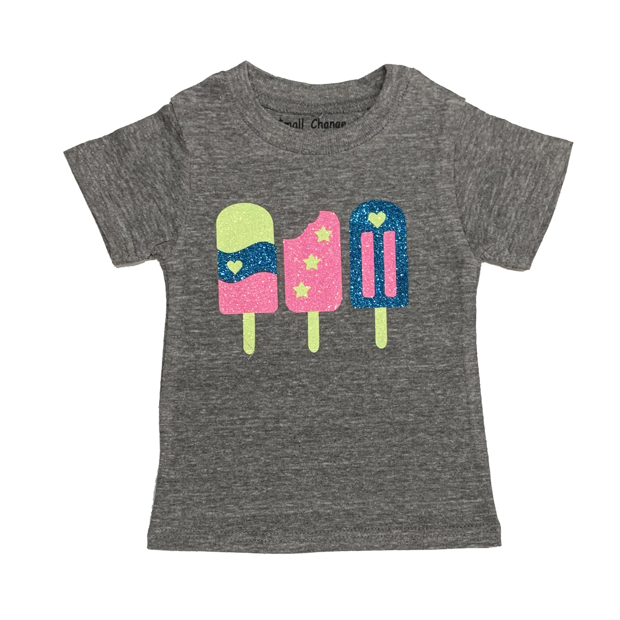Small Change Grey Neon Ice Pops Tee
