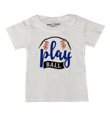 Small Change White Play Ball Tee