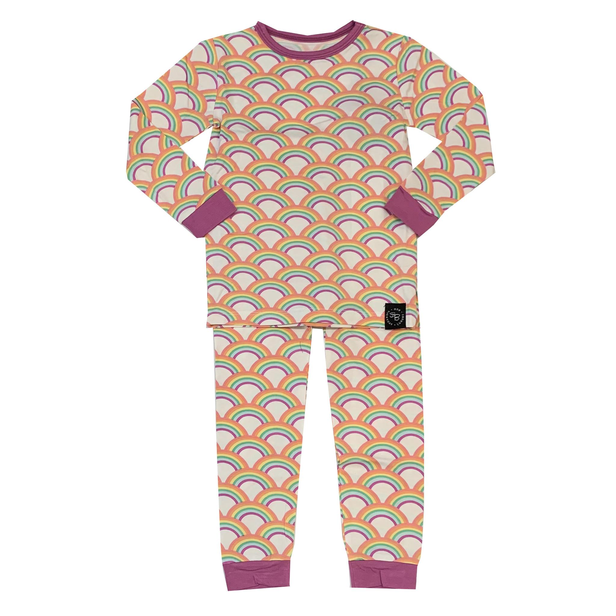 Sweet Bamboo Rockin' Rainbow Infant Pajama Set