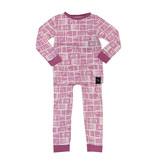 Sweet Bamboo Crocus Watercolor Infant Pajama Set