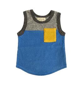 Miki Miette blue yellow pocket tank top