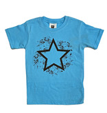 Wes & Willy Turquoise Star Splatter Tee