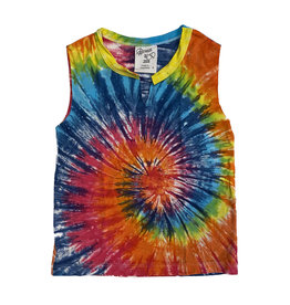 Flowers by Zoe Tie Dye Notched Tank