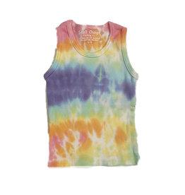 Small Change Rainbow Tie Dye Ribbed Tank Top