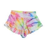 Flowers by Zoe Spiral Tie Dye Ruffle Shorts