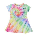 Flowers by Zoe Spiral Tie dye Infant Dress