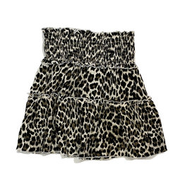 Flowers by Zoe Leopard Ruched Skirt