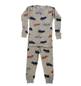 Baby Steps Grey Cars PJ Set