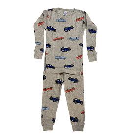 Baby Steps Grey Cars Infant PJ Set