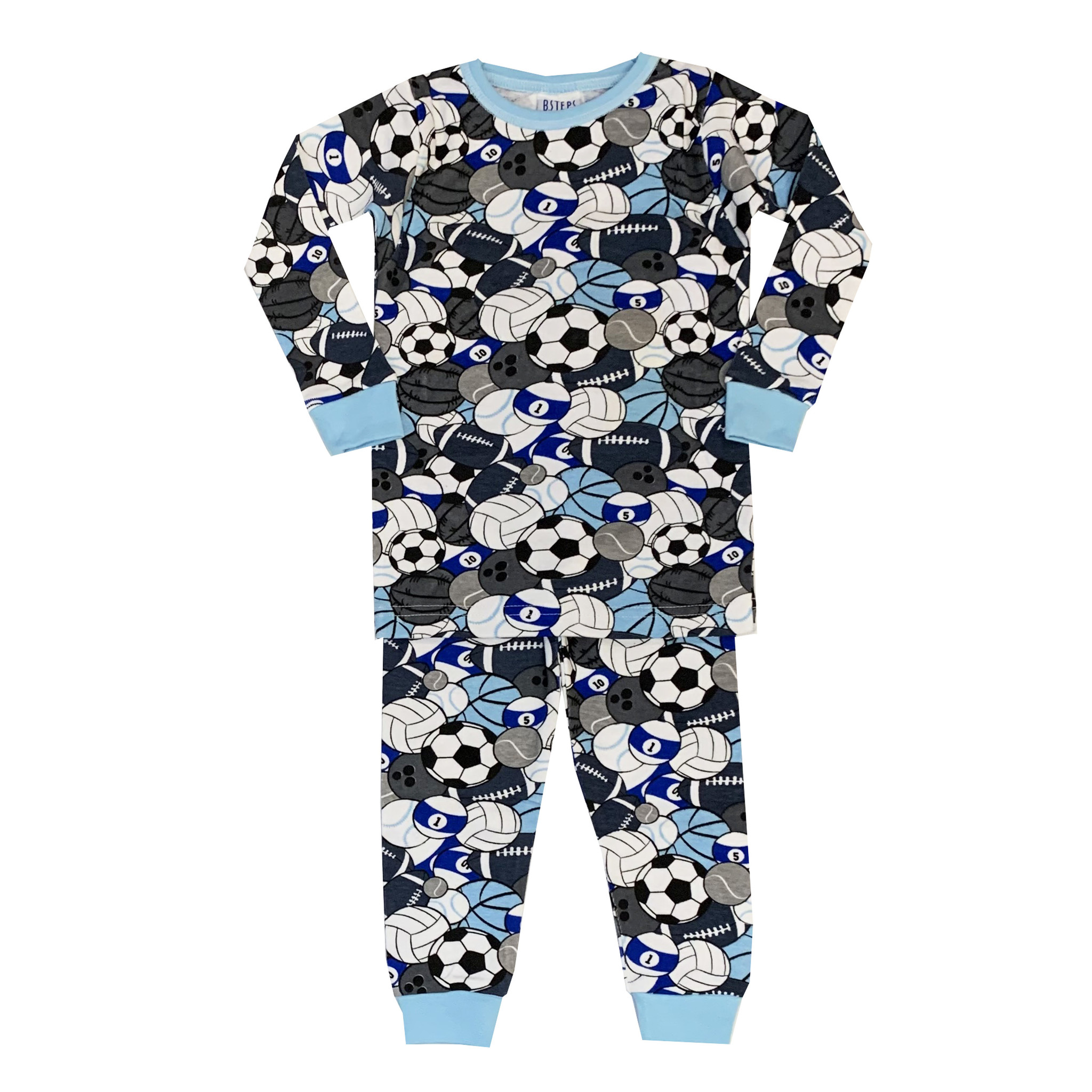 Baby Steps Blue Sports PJ Set