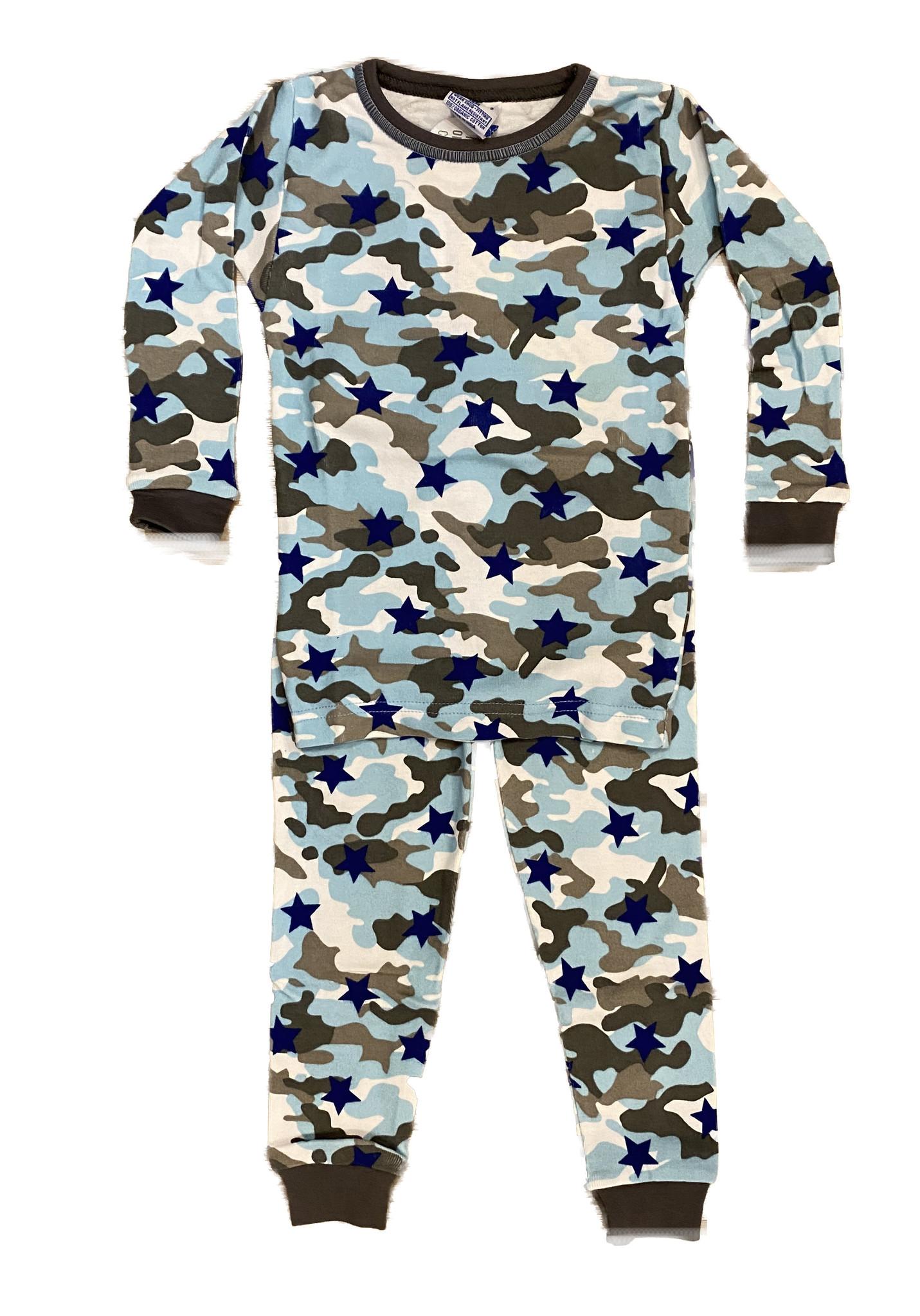 Baby Steps Blue Camo Star PJ Set