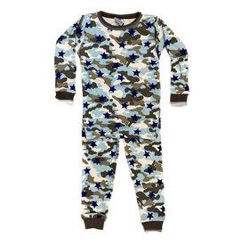 Baby Steps Blue Camo Stars Infant PJ Set