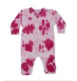 Baby Steps Hot Pink Tie Dye Footie