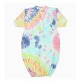 Baby Steps Pastel Rainbow Tie Dye Converter Gown NB