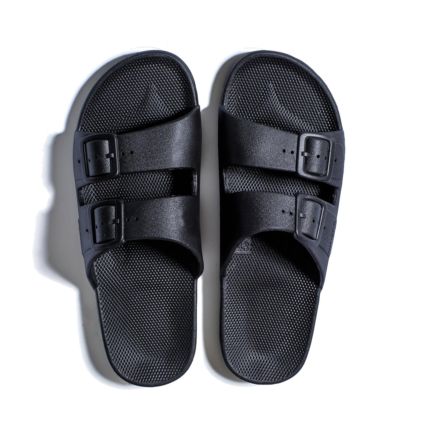Freedom Moses Slide Sandals Black