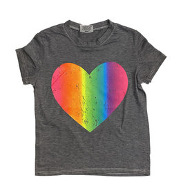 Firehouse Neon Heart Grey Tee