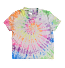 Firehouse Bright Tie Dye Swirl Crop Tee