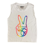 Firehouse Peace Hand White Tank