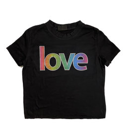 Firehouse Neon Love Black Crop Tee