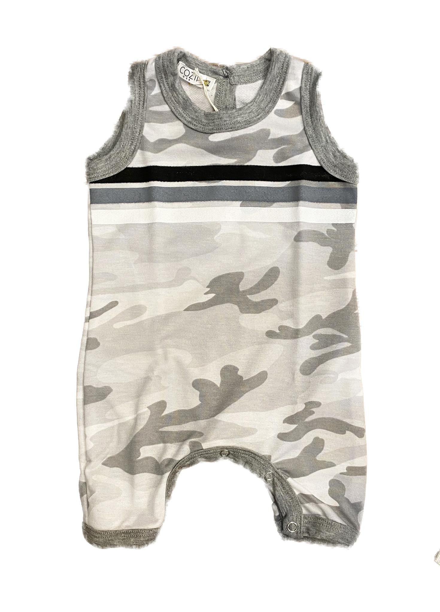 Cozii Grey Camo Striped Coverall