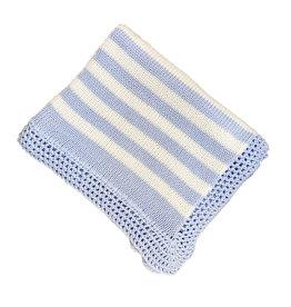 Gita Light Blue & White Blanket