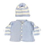 Gita Light Blue & White Sweater Set