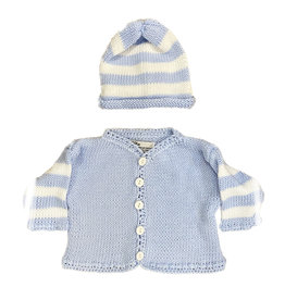 Gita Light Blue & White Sweater Set