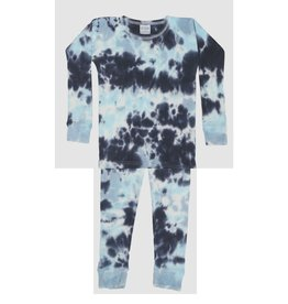 Baby Steps Blue Tie Dye Thermal PJ Set