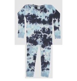 Baby Steps Blue Tie Dye Thermal Infant PJ Set