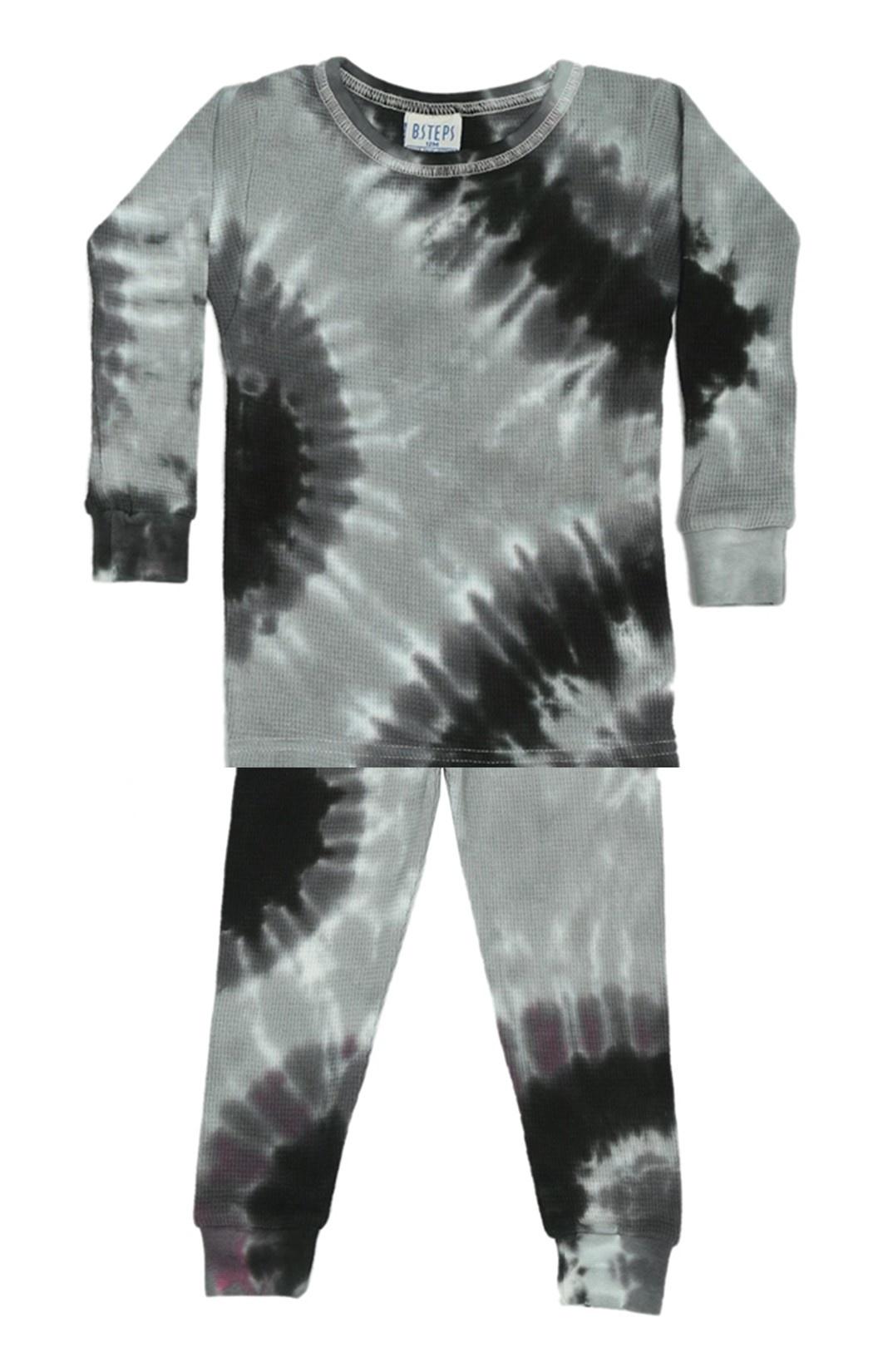 Baby Steps Stormy Tie Dye Thermal Infant PJ Set
