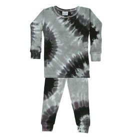 Baby Steps Stormy Tie Dye Thermal PJ Set