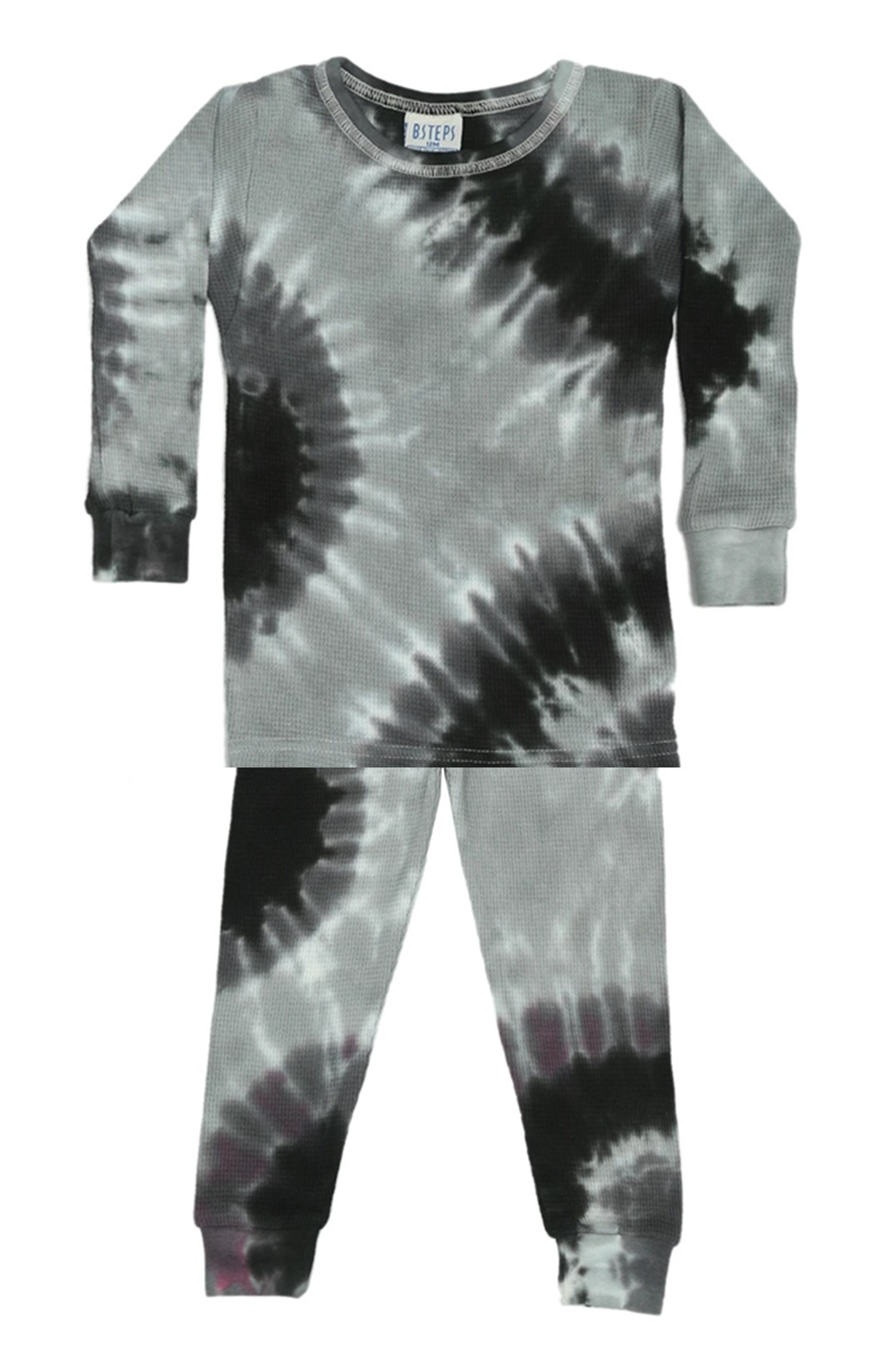 Baby Steps Stormy Tie Dye Thermal PJ Set
