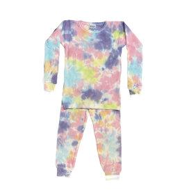 Baby Steps Colorful Tie Dye Thermal Infant PJ Set
