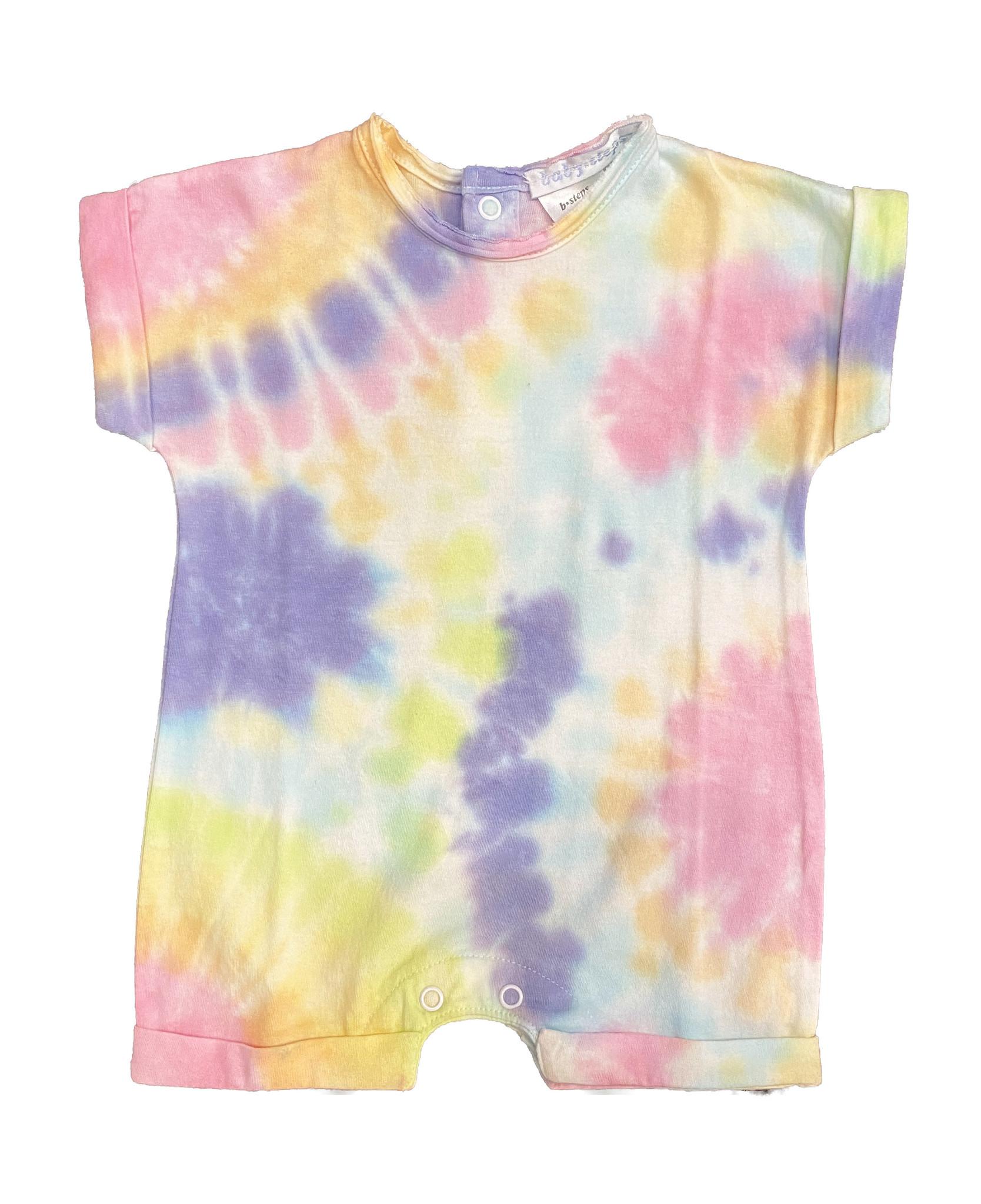 Baby Steps Colorful Tie Dye Romper