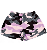 IScream Purple Camo Plush Lounge Shorts