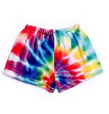 Top Trenz Tie Dye Plush Lounge Shorts