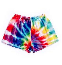 Top Trenz Tie Dye Plush Lounge Shorts