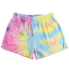 Pastel Tie Dye Plush Lounge Shorts