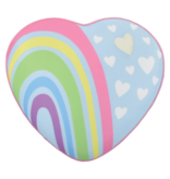 Pastel Rainbow Heart Microbead Pillow
